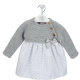 A3103 Girls  Dress with knitted Top